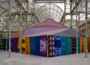 Una jaima saharaui en el Palacio de Cristal