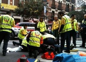 Herido grave tras ser atropellado por un ciclista en la calle Fuencarral