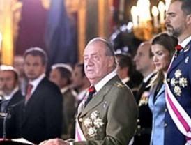 El Rey preside la primera Pascua Militar celebrada bajo el estado de alarma