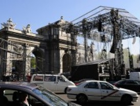 Los ensayos del MTV Day cortan el tráfico en Cibeles