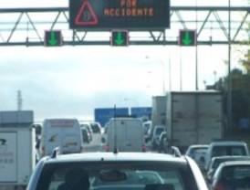Un accidente atasca el acceso a Herrera Oria