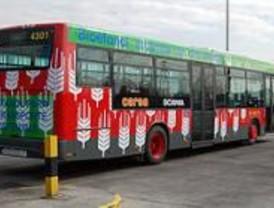 La EMT estrena sus primeros cinco autobuses de bioetanol en la línea 75