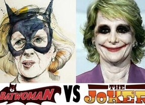Carmena ('Batwoman') vs. Aguirre ('The Joker')