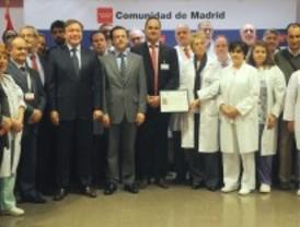 El hospital de Getafe, único en España en recibir el sello 500+