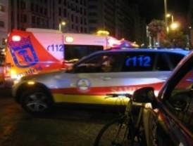 Herido muy grave un ciclista tras colisionar contra un taxi en la Gran Vía