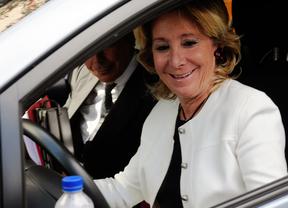El incidente de tráfico de Esperanza Aguirre se resolverá con un juicio de faltas
