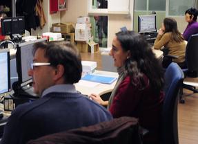 Funcionarios en un juzgado de Madrid