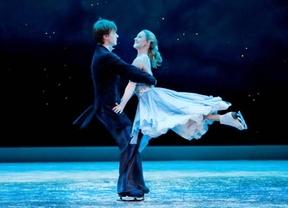 La Cenicienta patina sobre hielo en los Jardines de Sabatini