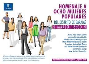 Homenaje 8 mujeres Barajas