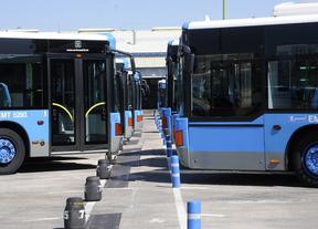 Buses de la EMT en cocheras