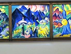 Explosión de color de la mano de Kirchner