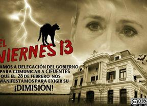 Cartel de la Coordinadora 25S para convocar una concentración para pedir la dimisión de Cristina Cifuentes.