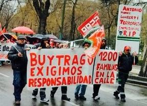 Manifestación de los trabajadores de Transportes Buytrago.
