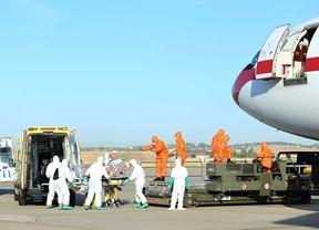 Repatriación del misionero Miguel Pajares, contagiado de ébola, en la base aérea de Torrejón de Ardoz