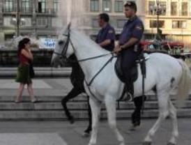 Una policía en estado muy grave al caer del caballo y no llevar casco