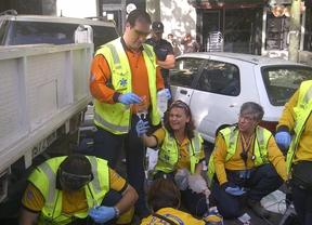 Herido muy grave un obrero tras ser golpeado por un camión