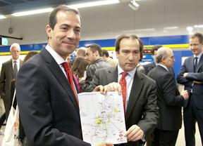 Salvador Victoria y Borja Carabante muestran el nuevo plano de Metro
