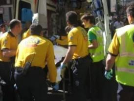 Herido grave tras ser atropellado por un camión