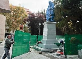 Instalan la estatua de Blas de Lezo en los Jardines del Descubrimiento