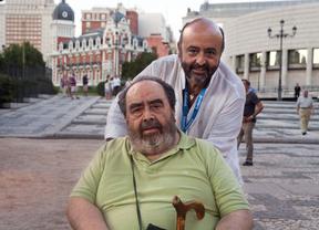 Rafael Castejón con su hijo Jesús.