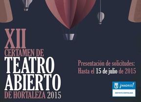 Llega la XII edición del certamen de teatro abierto de Hortaleza