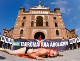 Performance contra la tauromaquia, en Las Ventas