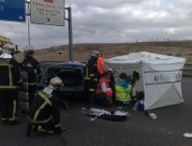 Las carreteras madrileñas registran tres accidentes mortales en poco más de 12 horas