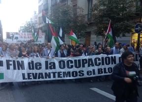 Manifestación en apoyo a Palestina en una jornada de movilización mundial