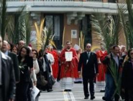 Centenares de personas para la procesión del Domingo de Ramos