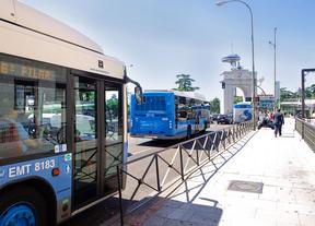 Buses de la EMT. Faro de Moncloa.