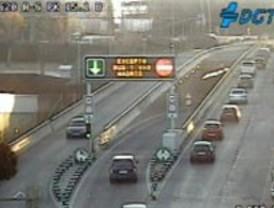 Las placas de hielo dificultan el tráfico
