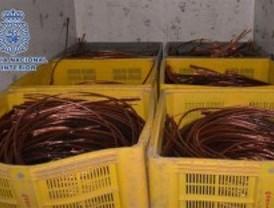 Localizan 80 toneladas de cobre valorados en 456.000 euros en una nave industrial en Murcia