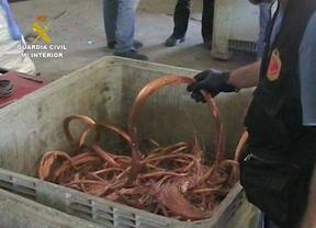 Detenidos por robar más de una tonelada de cable de cobre