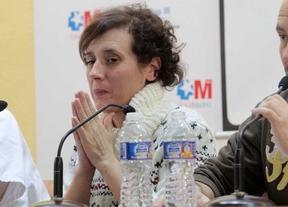 Teresa Romero, en la rueda de prensa el día que recibió el alta del hospital Carlos III