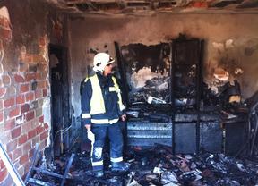 Incendio en un inmueble de Alcalá de Henares