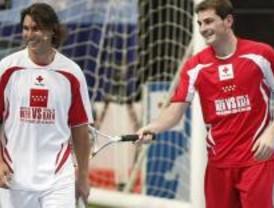 Espectáculo deportivo solidario de Iker, Nadal y amigos
