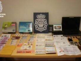 Desarticulada una banda de falsificadores que operaba en Madrid