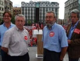 El Rey recibe a los líderes sindicales en Zarzuela