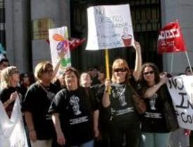 Manifestación a favor de la educación pública infantil