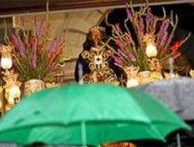 La lluvia obliga a suspender la procesión de Jesús de Medinaceli