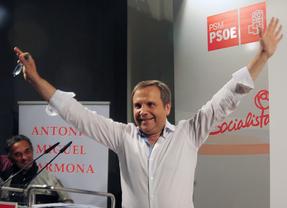 Antonio Miguel Carmona en el acto de presentación  como precandidato a alcalde Madrid