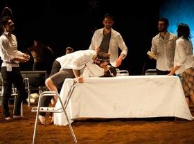 Representación de la obra Fuenteovejuna por la Joven Compañia en el teatro Antonio Buero Vallejo en el centro cultural Conde Duque.