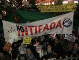 Protestas en Sol contra el bombardeo de Gaza