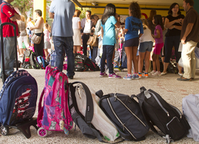 Primer día de colegio en Las Rozas
