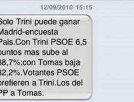 Cientos de militantes del PSM reciben un SMS masivo y anónimo contra Tomás Gómez