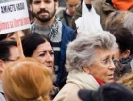 Medio centenar de personas se manifiestan en Sol por Aminetu Haidar