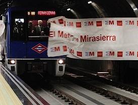El barrio de Mirasierra estrena la última ampliación de Metro de la legislatura