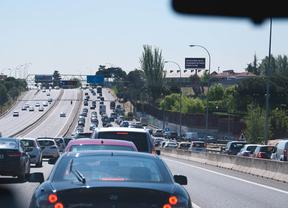 Las carreteras madrileñas registran un total de 24 kilómetros de retenciones