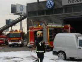 Incendio en el Polígono Industrial Los Olivos de Getafe