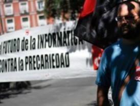 Informáticos protestan en Tirso de Molina contra la degradación de sus condiciones laborales